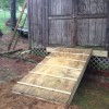 how to build a shed ramp on uneven ground | Woodworking Community ...