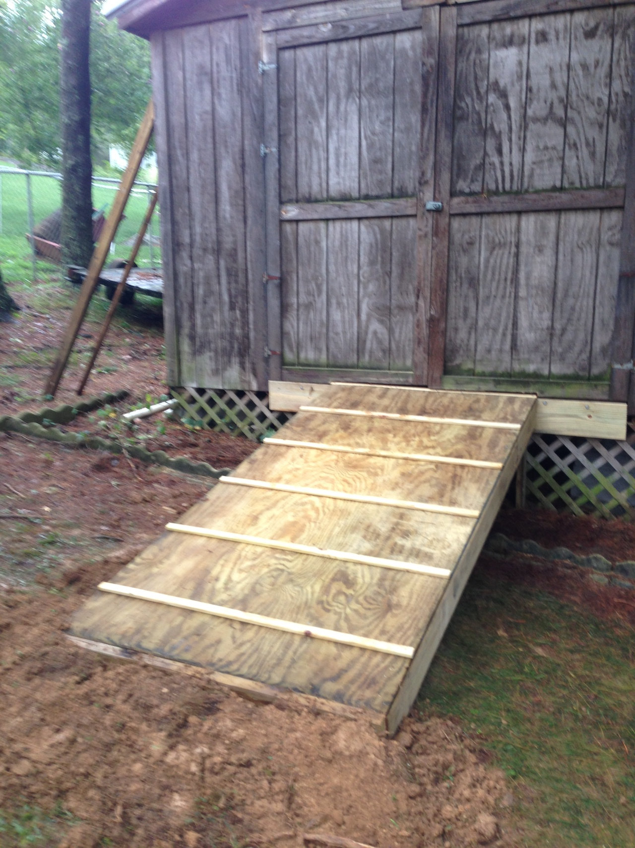 Build A Shed Ramp Redneck Diy