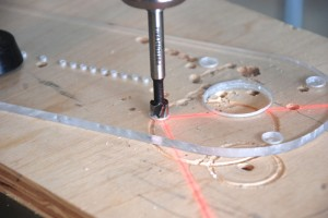 Circle Jig Router Mounting Holes