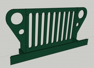 Jeep Grill 3D As Built