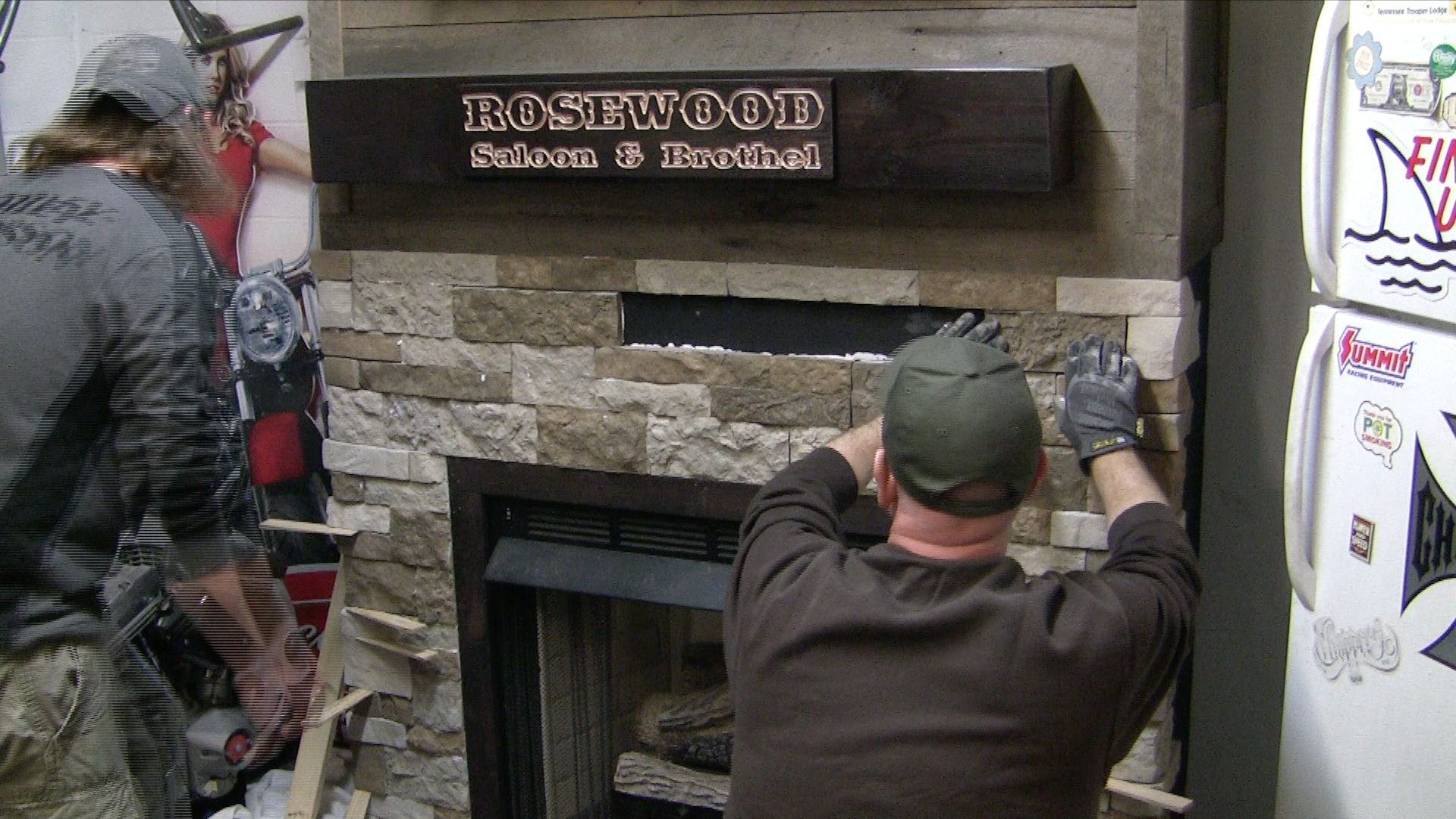 fireplace surround redneck diy