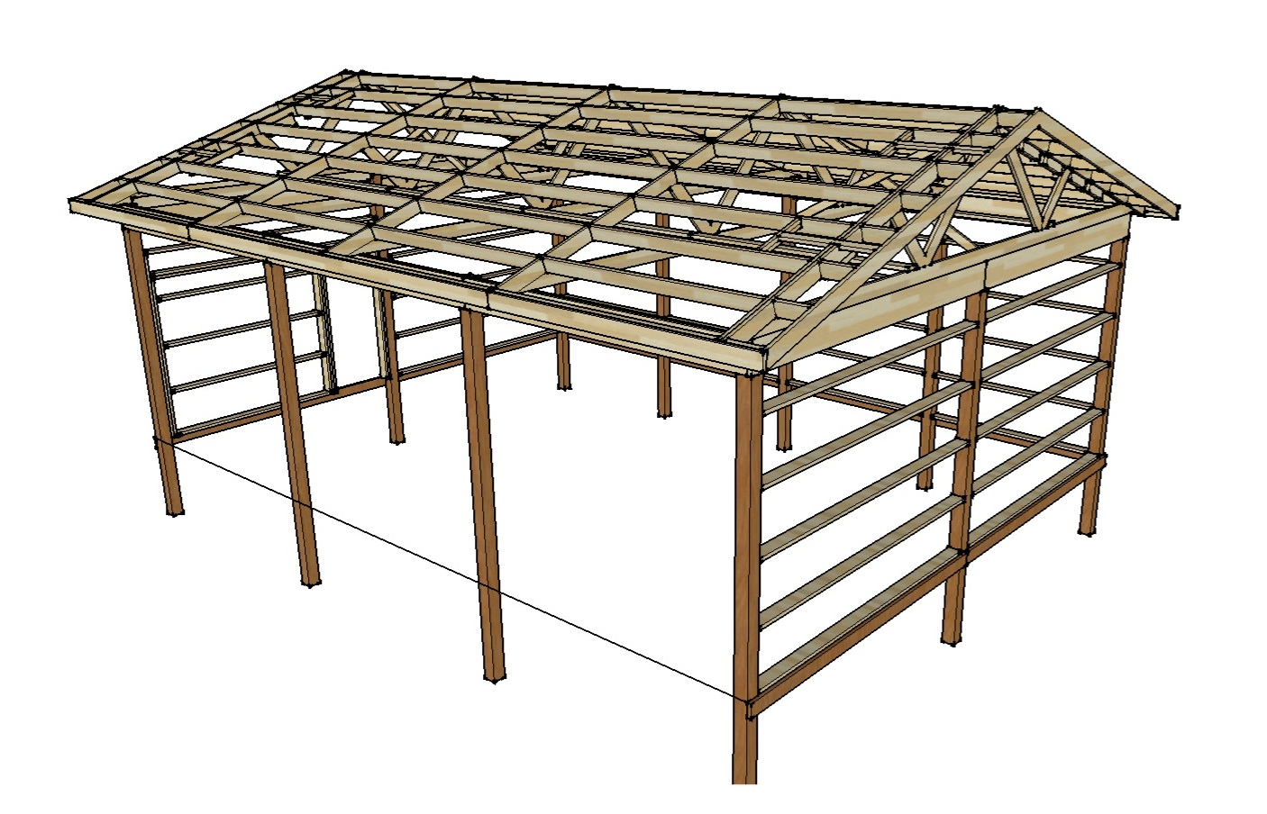 Pole barn plans and materials redneck diy for Pole barn building plans