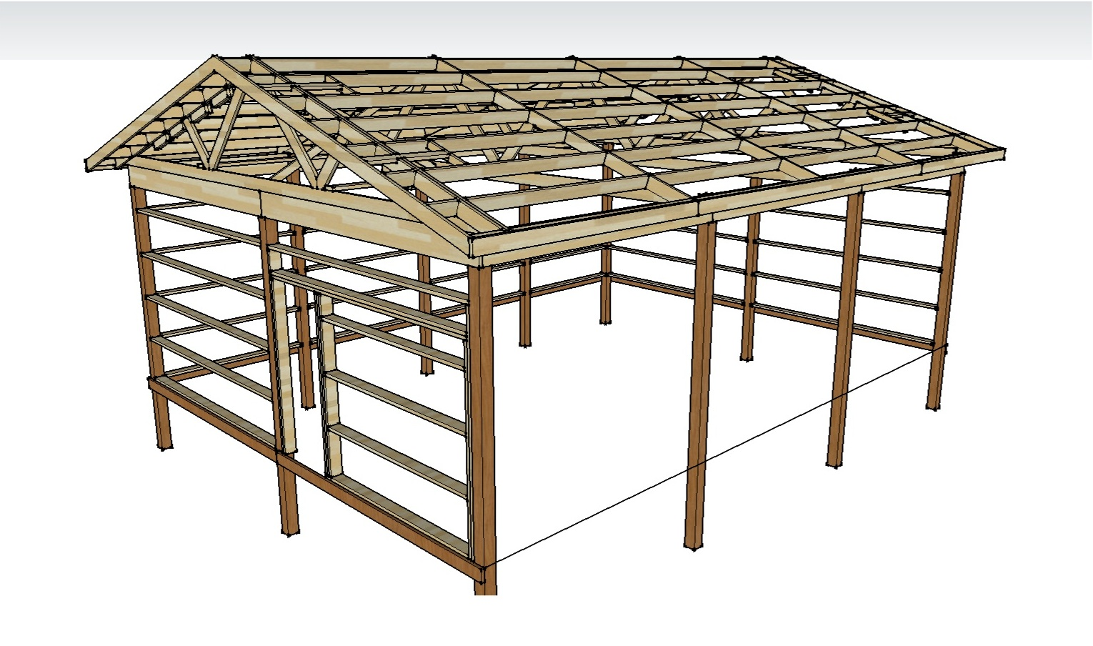 Pole Barn Roofs & Pole Barn Plans And Materials « Redneck ...
